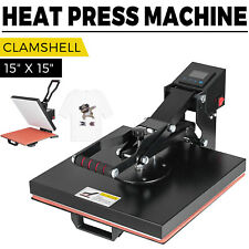 15 X 15 Clamshell T Shirt Heat Press Machine Diy Sublimation Digital Transfer