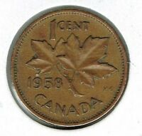 1958 Canadian Circulated One Cent Elizabeth II Coin!