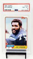 1981 Topps HOF Pittsburgh Steelers JOE GREENE Vintage Football Card PSA 8 NM-MT