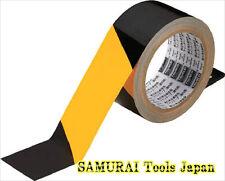 10pcs Safety Stripe Tape (indoor), Yellow/Black, 50mmX25m, TLT-50EABY, TRUSCO