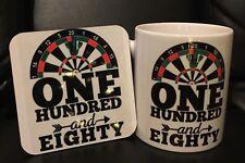 Darts Personalised mug and coaster gift set