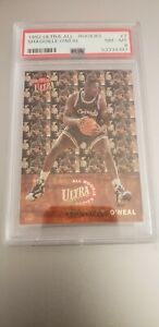 1992-93 fleer ultra shaquille oneal all rookies # 7 PSA 8