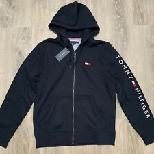 NWT Tommy Hilfiger Men's Dash Embroidered Logo Full Zip Hoodie All Sizes