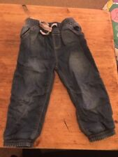 Jeans 2/3 Years 100% Cotton With Tie up Detail And Elastic Hem Excellent Con