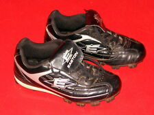 Easton Size Youth 1 Black and White Baseball Cleats
