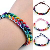 10Pcs Wholesale Bulk Lots Colorful Braid Friendship Cords Strands Bracelets UK