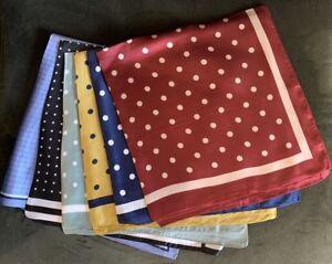 Large Square 70cm Ladies Polka Dots Faux Silk Thin Scarf Neck Warmer Bandana UK