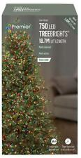 750 LED Multi-Coloured Xmas Tree Lights with Timer, 23.7m