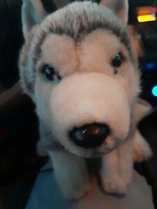 Animal Alley Toys R Us Plush Gray White Siberian Husky Dog Wolf Stuffed 2017 Pup