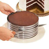 Round Mousse Cake Ring Mold Stainless Steel DIY Layer Slicer Cutter Adjustable