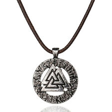 Necklace Gals Viking Symbol Pendant Thor's Hammer Circle Necklace Jewelry  M8