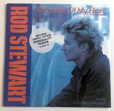 "ROD STEWART - EVERY BEAT OF MY HEART (TARTAN MIX) - 1986 UK - 12"" WITH POSTER"