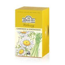 Ahmad Tea Chamomile & Lemongrass Herbal 6 box of 20 ct Tea Bags, Item # 097  NEW