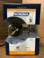 Schlage Single Cylinder Deadbolt Antique Brass | Model B60N V 609