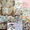 Vintage Tagebuch Sticker Papier Aufkleber Deko Kawaii Scrapbooking Etiketten Set