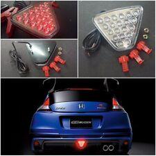 fJDM Honda FIT CR-Z Jazz Mugen Rear Bumper Lips Fog Light Lamp LED Clear RED