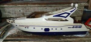 "RARE Vintage Majorette Toys Stream Liner Yaht ship 23"" long missing parts"