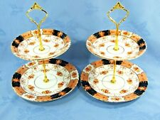TWO CAKE STANDS ~ 2 TIER ROYAL ALBERT VINTAGE CROWN CHINA