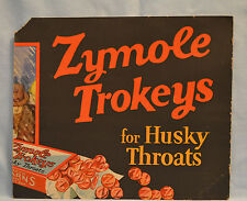 Vintage Zymole Trokeys for Husky Throats  Advertising 10 X 12 In. Dated 1940's