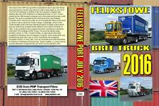 3342. Felixtowe. UK. Trucks. July 2016. The first part of our coverage onm a bri