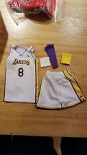 Custom 1/6 kobe bryant lakers jersey 8 NBA TOYs home white fit enterbay