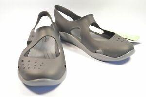 Crocs Swiftwater Wave Black Standard Fit 203995-001 US6 Ladies Flat Shoes