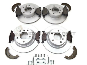 BMW E90 320D 320 D FRONT & REAR BRAKE DISCS & PADS SHOES AND FITTING KIT