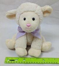 "Melissa & Doug Lamb Sheep Plush, Lavender Gingham Ribbon 8"" Stuffed Animal"