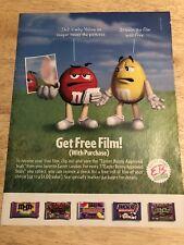 M&Ms - 2000 Magazine Print Ad - Get Free Film! Clipping Ad