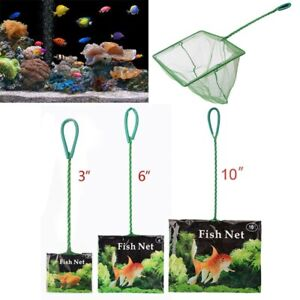 Portable Fish Net Long Handle Square Aquarium Accessories Landing Tank Fish Net