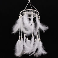 Large Feather Beads Handmade Dream Catcher Car Wall Door Hanging DecorOrnament