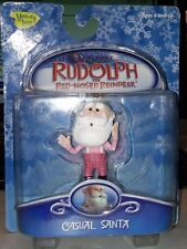Rudolph Red-Nosed Reindeer Casual Santa Clip On Toy (Memory Lane, 2003) NEW