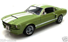 1967 Shelby GT 500 Hard top Green+ Bonus LED 1:18 display case RRP $ 80.00 Check