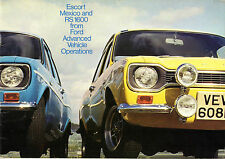 Ford Escort Mk1 Mexico & RS 1600 1972-73 UK Market Sales Brochure