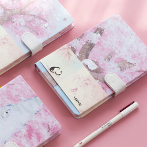 """""""Sakura Cat"""" 1pc Journal Diary Cute Lined Planner Hard Cover Notebook Notepad"""