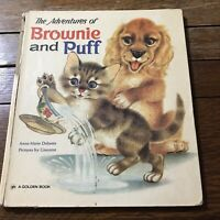 Vintage Children's Book The Adventures Of Brownie And Puff Golden 1971 Giannini