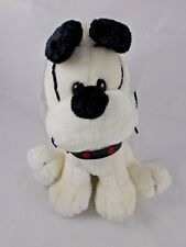"Black & White Dog Plush 10"" Tall MTY International Stuffed Animal"