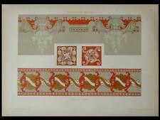 DECORATIONS ART NOUVEAU -1910- LITHOGRAPHIE DOREE, COSTANTINO GRONDONA
