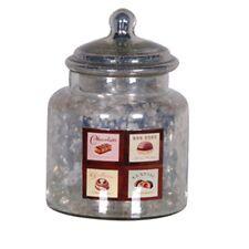 'Antique Silver' Glass Chocolate Jar / Retro Sweet Jar / Chocolate Jar / Kitchen