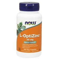 Now Foods L-OPTIZINC 30 MG - 100 Végétarien Capsules Frais Fabriqué En USA