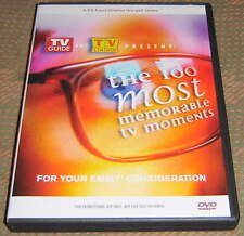 TV LAND / TV GUIDE - 2 DVDs - 100 MOST MEMORABLE TV MOMENTS - VERY RARE
