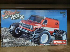 Kyosho Mad Van VE Brushless RC Monster Truck - Mint Condition, With Box, Etc