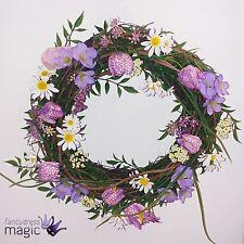 *Gisela Graham Springtime Easter Fritillaria Door Decoration Mixed Flower Wreath