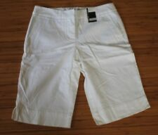 Women's NWT New York & Company Manhattan CHINO shorts WHITE Mid-town Fit size 2