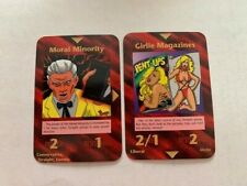 Illuminati New World Order - Girlie Magazines + Moral Minority - 2 Cards!