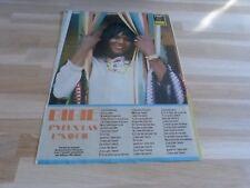 BIBIE - Mini poster - paroles !!! J'VEUX PAS L'SAVOIR !!! TOP 50 !!! VINTAGE