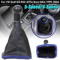 5 Speed Gear Shift Knob Gaiter Boot for VW Golf GTI R32 Jetta Bora MK4 99-04 Str