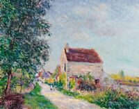 The Village Of Sablons Alfred Sisley Fine Art Print on Canvas Repro Small 8x10