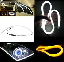 2X 18'' Dual Color White-Amber LED Strip Tube Flexible Daytime Running DRL lamp