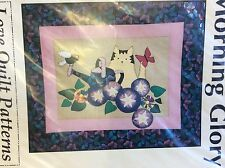 MORNING GLORY WALLHANGING QUILT PATTERN FOR LOVE QUILT PATTERNS- 23 X 29